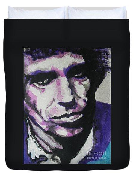 Keith Richards Duvet Cover by Chrisann Ellis