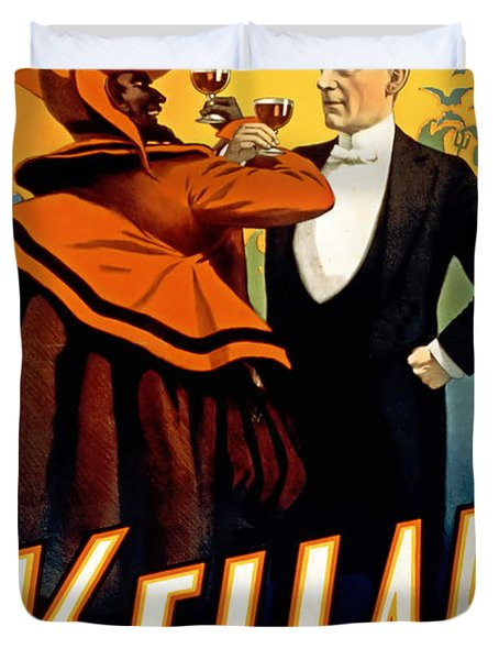 Kellar Toasts The Devil Duvet Cover by Terry Reynoldson