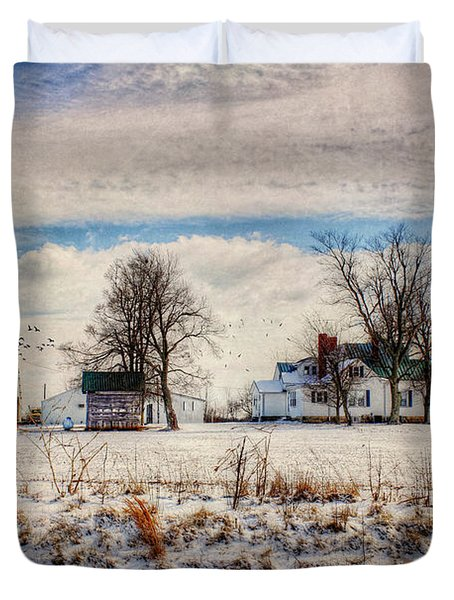 Kentucky Snow Day Duvet Cover by Darren Fisher