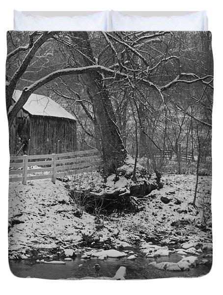 Kentucky Snow Duvet Cover by Mary Carol Story