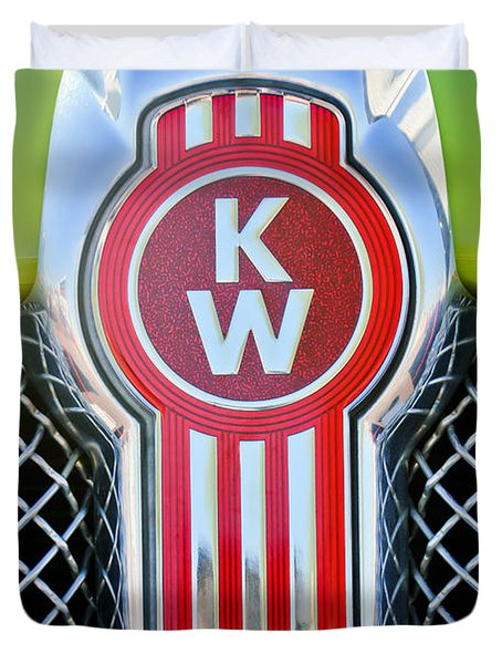 Kenworth Truck Emblem -1196c Duvet Cover by Jill Reger