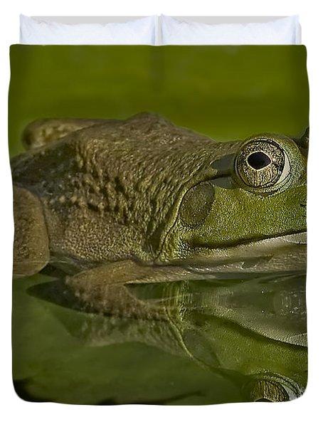Kermit Duvet Cover by Susan Candelario