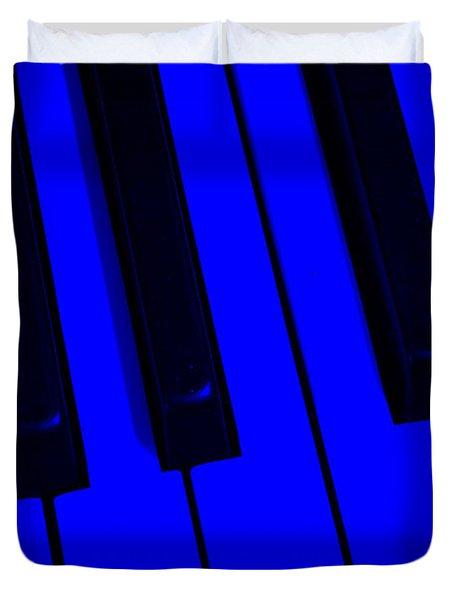Keyboard Blues Duvet Cover by John Stephens