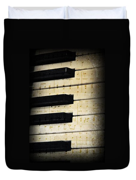 Keyboard Music Duvet Cover by Kenny Francis