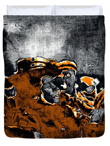 Keystone Cops - 20130208 Duvet Cover by Wingsdomain Art and Photography