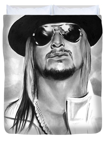 Kid Rock Duvet Cover by Brian Curran