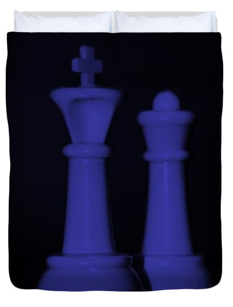 KING AND QUEEN in PURPLE Duvet Cover by ROB HANS