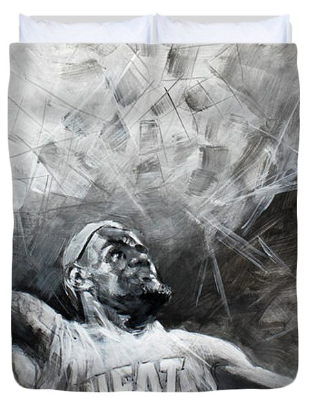 King James LeBron Duvet Cover by Ylli Haruni