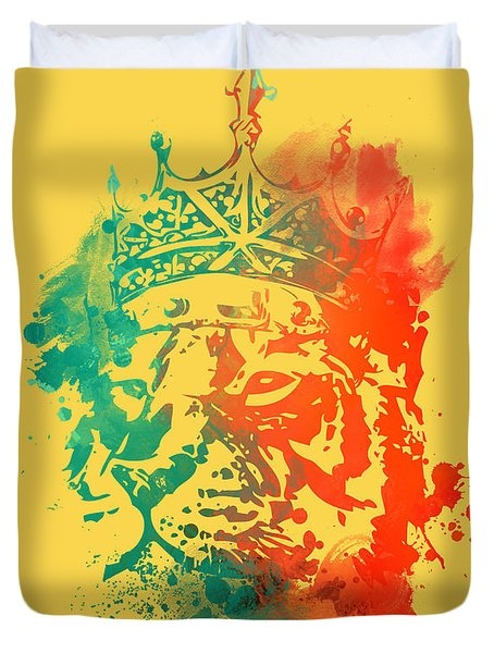 King Of The Jungle Duvet Cover by Budi Satria Kwan