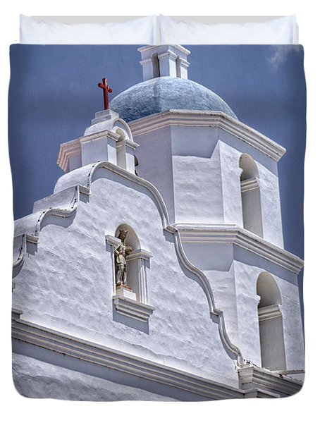 King Of The Missions Duvet Cover by Joan Carroll
