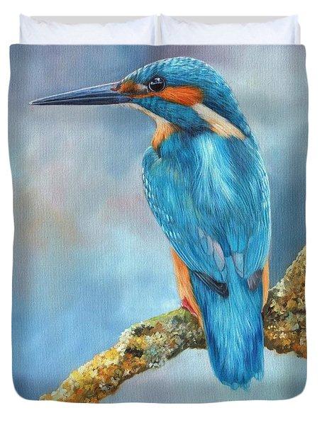 Kingfisher Duvet Cover by David Stribbling