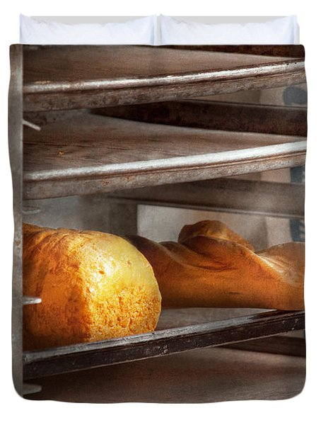 Kitchen - Food - Bread - Freshly baked bread  Duvet Cover by Mike Savad