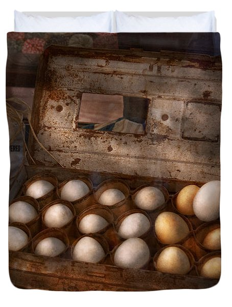 Kitchen - Food - Eggs - 18 eggs  Duvet Cover by Mike Savad