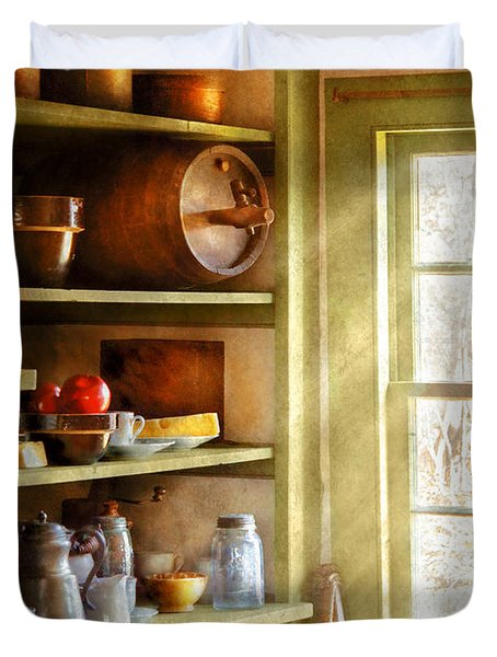 Kitchen - Kitchen Necessities Duvet Cover by Mike Savad