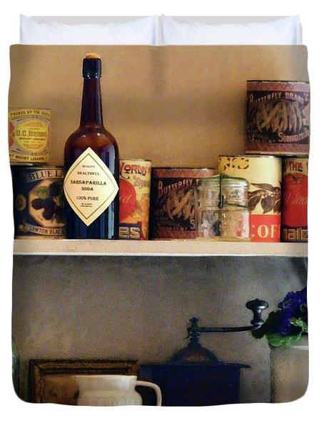Kitchen Pantry Duvet Cover by Susan Savad