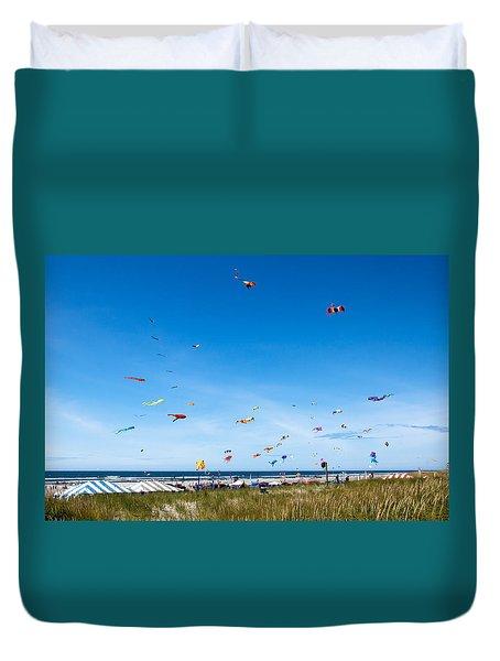 Kite Festial Duvet Cover by Robert Bales