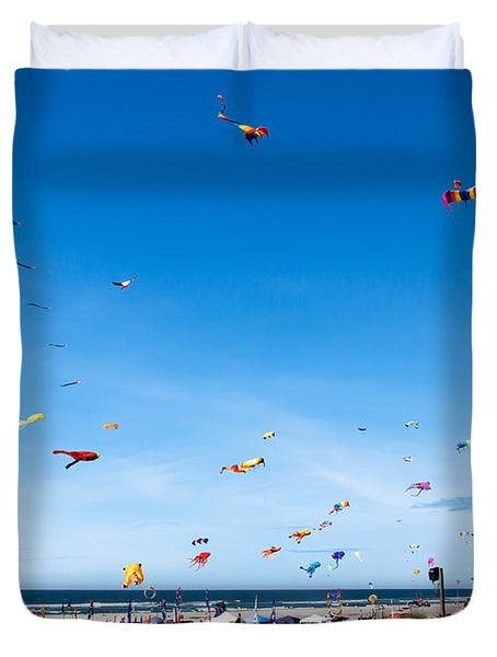 Kite Festial Duvet Cover by Robert Bales