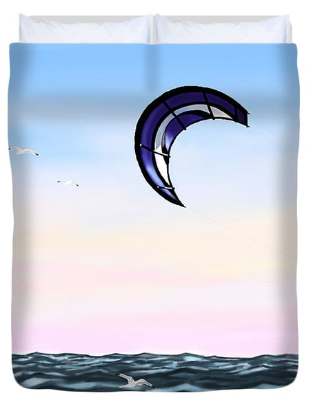 kite Duvet Cover by Veronica Minozzi