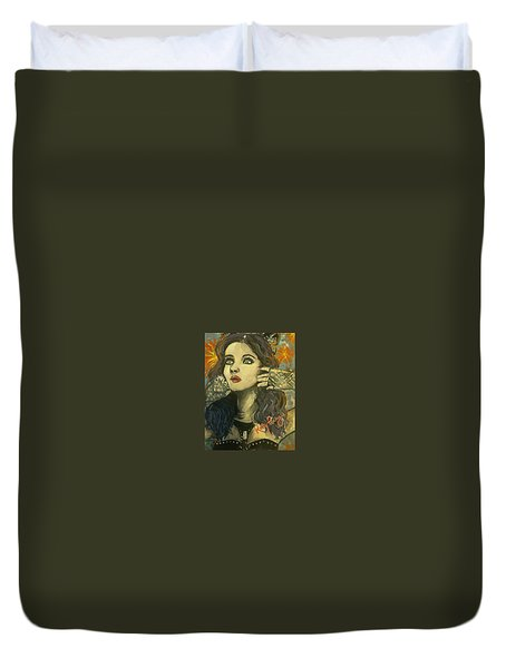 Kitty Perry Duvet Cover by Alana Meyers