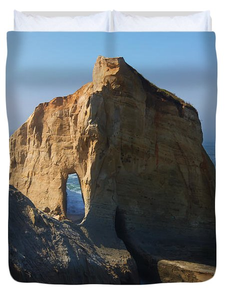 Kiwanda Mist Duvet Cover by Mike  Dawson