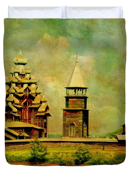 Kizhi Pogost Duvet Cover by Catf