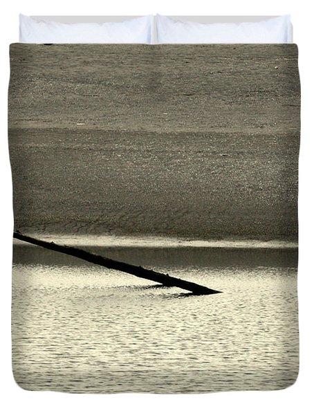Klamath River Mouth - A Bliss Place Duvet Cover by Christine Till