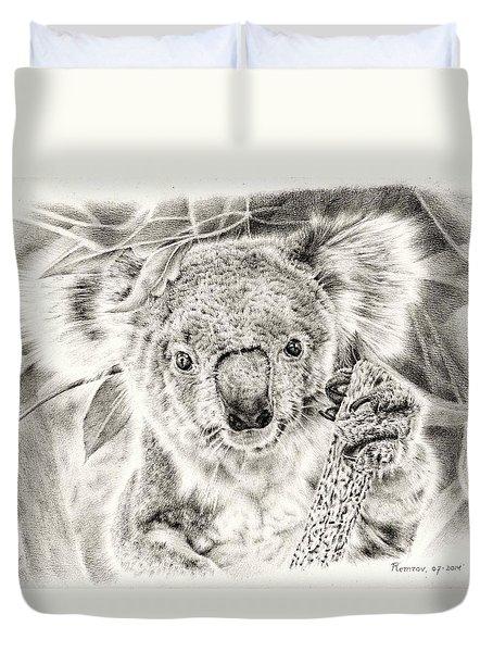 Koala Garage Girl Duvet Cover by Remrov