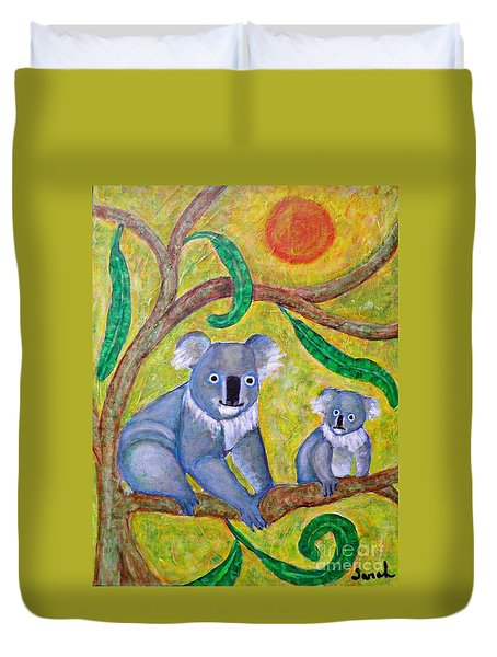 Koala Sunrise Duvet Cover by Sarah Loft