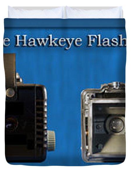 Kodak Brownie Hawkeye Camera Duvet Cover by Thomas Woolworth