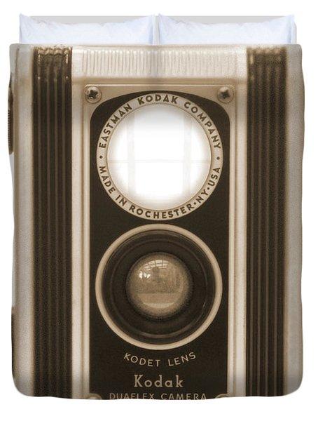 Kodak Duaflex Camera Duvet Cover by Mike McGlothlen