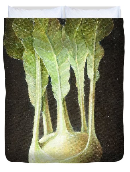 Kohl Rabi, 2012 Acrylic On Canvas Duvet Cover by Lincoln Seligman