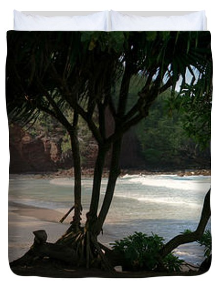 Koki Beach Hana Maui Hawaii Duvet Cover by Sharon Mau