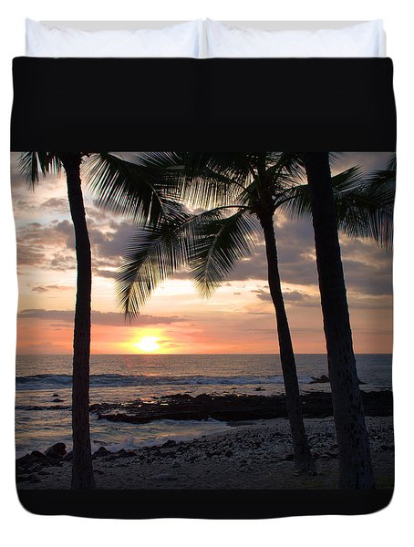 Kona Sunset Duvet Cover by Brian Harig