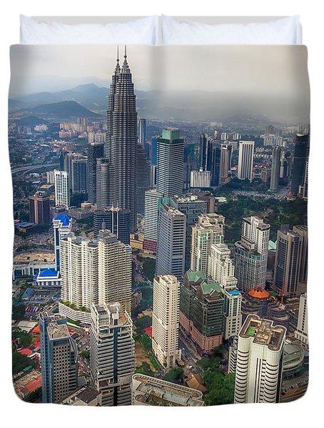 Kuala Lumpur City Duvet Cover by Adrian Evans