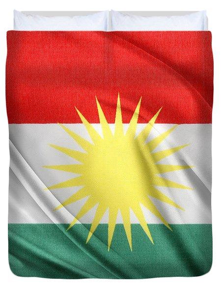Kurdistan Flag Duvet Cover by Les Cunliffe