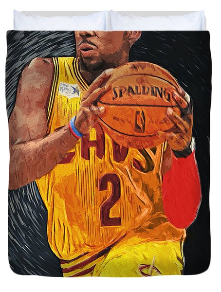Kyrie Irving Duvet Cover by Taylan Soyturk