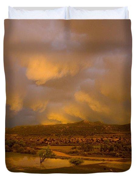 La Boca Rain Duvet Cover by Jerry McElroy