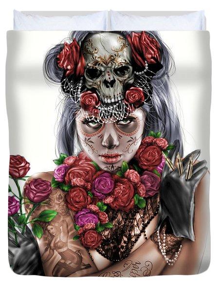 La Calavera Catrina Duvet Cover by Pete Tapang