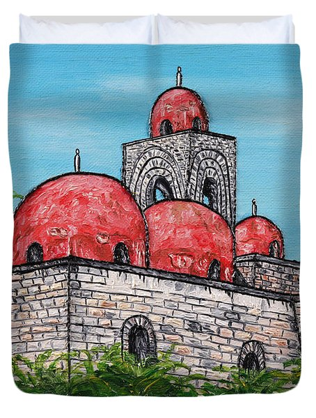 La Chiesa Di San Giovanni Degli Eremiti  Duvet Cover by Loredana Messina