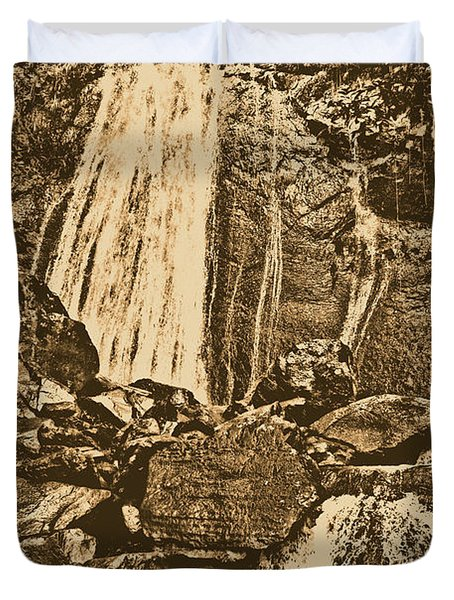 La Coca Falls El Yunque National Rainforest Puerto Rico Prints Rustic Duvet Cover by Shawn O'Brien
