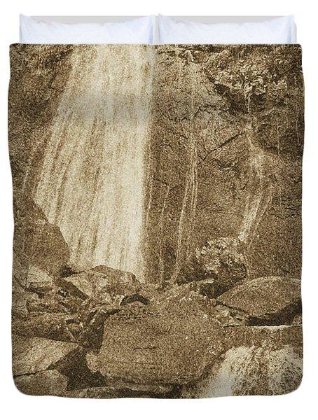 La Coca Falls El Yunque National Rainforest Puerto Rico Prints Vintage Duvet Cover by Shawn O'Brien