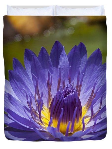 La Fleur De Lotus - Star Of Zanzibar Tropical Water Lily Duvet Cover by Sharon Mau