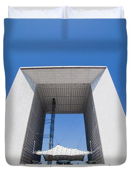 La Grande Arch in La Defense business district Paris France Duvet Cover by Michal Bednarek