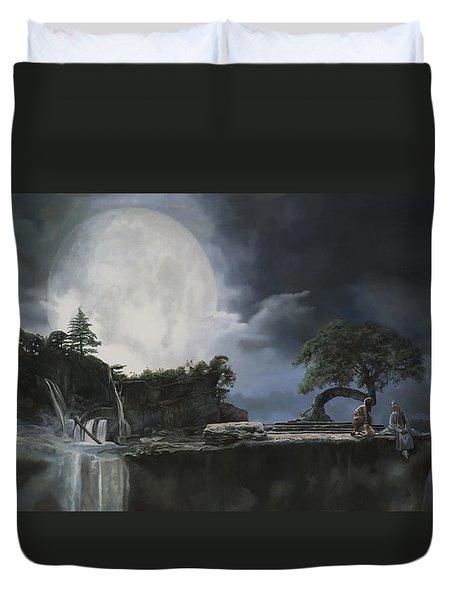 La Luna Bianca Duvet Cover by Guido Borelli