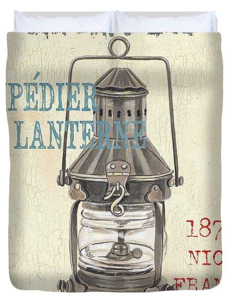 La Mer Lanterne Duvet Cover by Debbie DeWitt