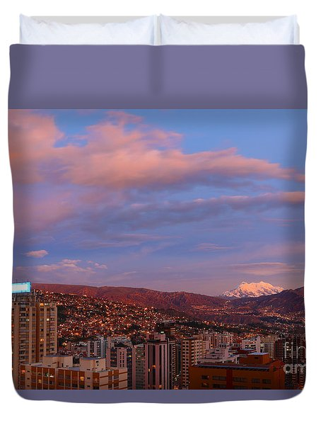 La Paz Twilight Duvet Cover by James Brunker