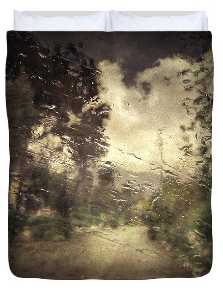 La Pluie 4.45 Duvet Cover by Taylan Soyturk