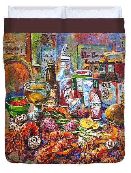 La Table De Fruits De Mer Duvet Cover by Dianne Parks