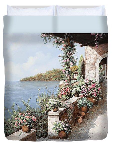 la terrazza Duvet Cover by Guido Borelli