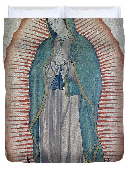 La Virgen De Guadalupe Duvet Cover by Lynet McDonald